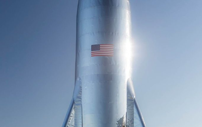 SpaceX's new starship could be in orbit as soon as next month.   Image via SpaceX