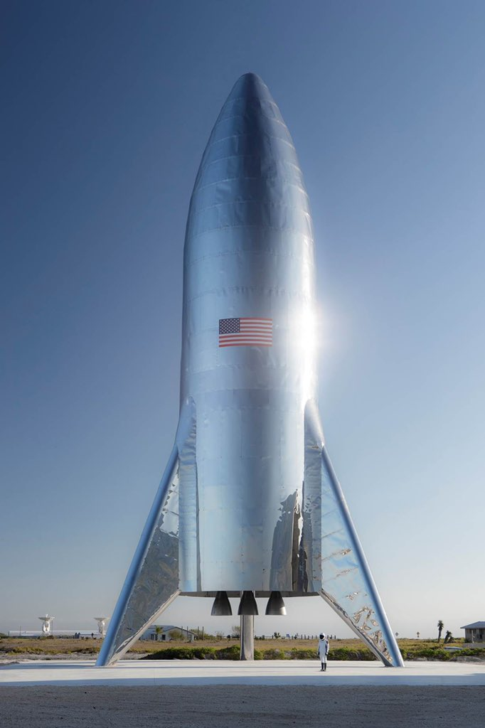 SpaceX's new starship could be in orbit as soon as next month. | Image via SpaceX