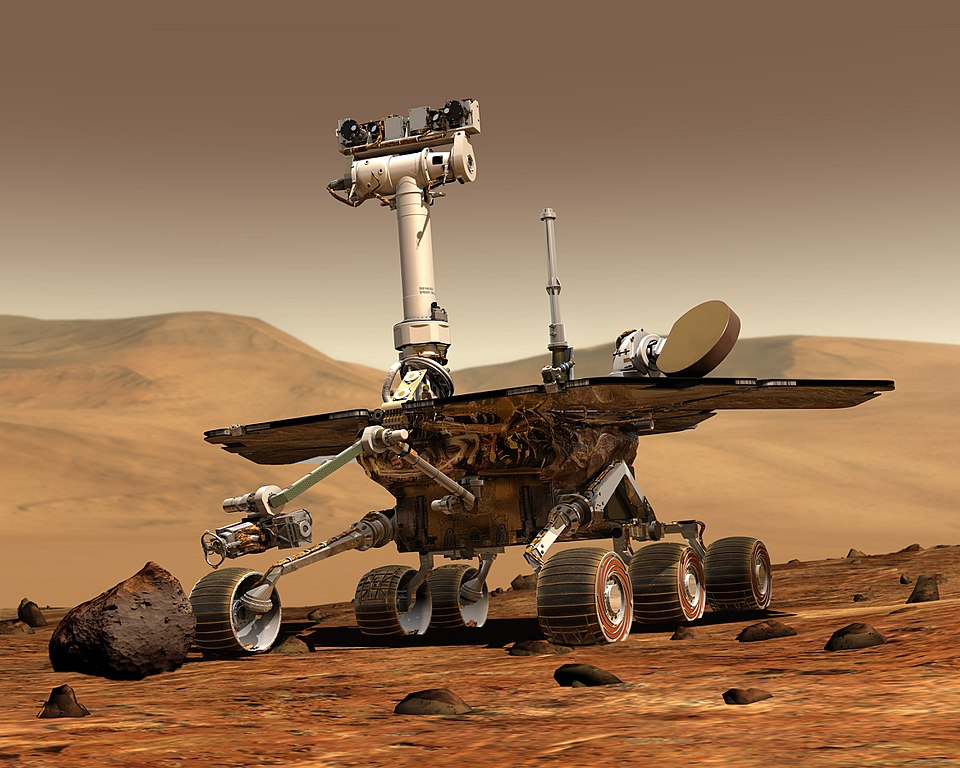 Artist's conception of Opportunity Mars rover on Martian surface | NASA JPL