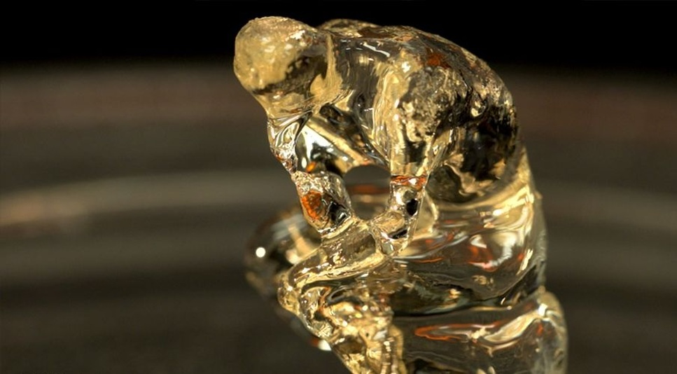 The Thinker replica created by the UC Berkeley and LLNL researchers using their new 3D printing technology | UC Berkeley/Nature
