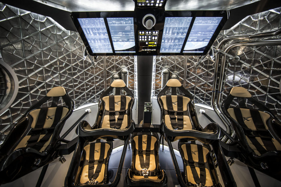 The interior of SpaceX's Crew Dragon capsule | SpaceX/Flickr.com