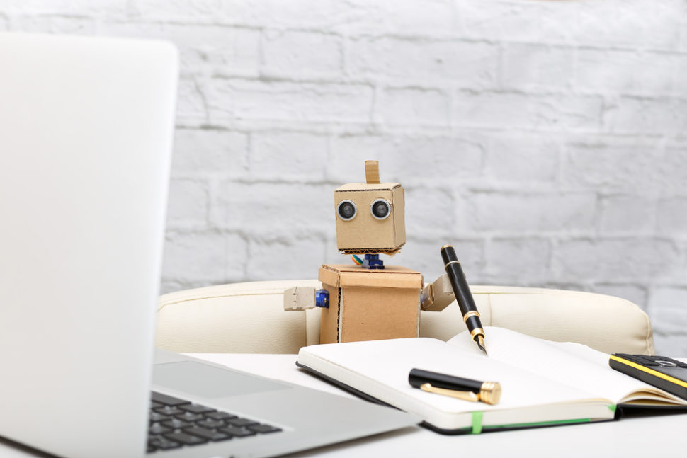 Is using a robot to complete your homework cheating? Or ingenious? ¦ Bas Nastassia / Shutterstock