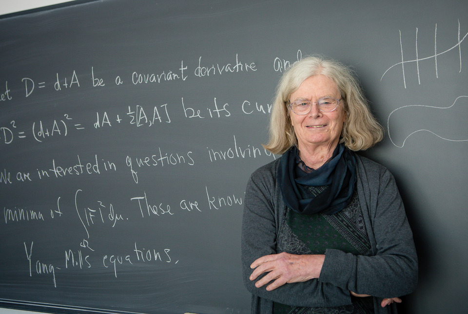 Dr. Karen Uhlenbeck is the first woman to receive the Abel Prize in mathematics | Image courtesy of Andrea Kane/Institute of Advanced Studies