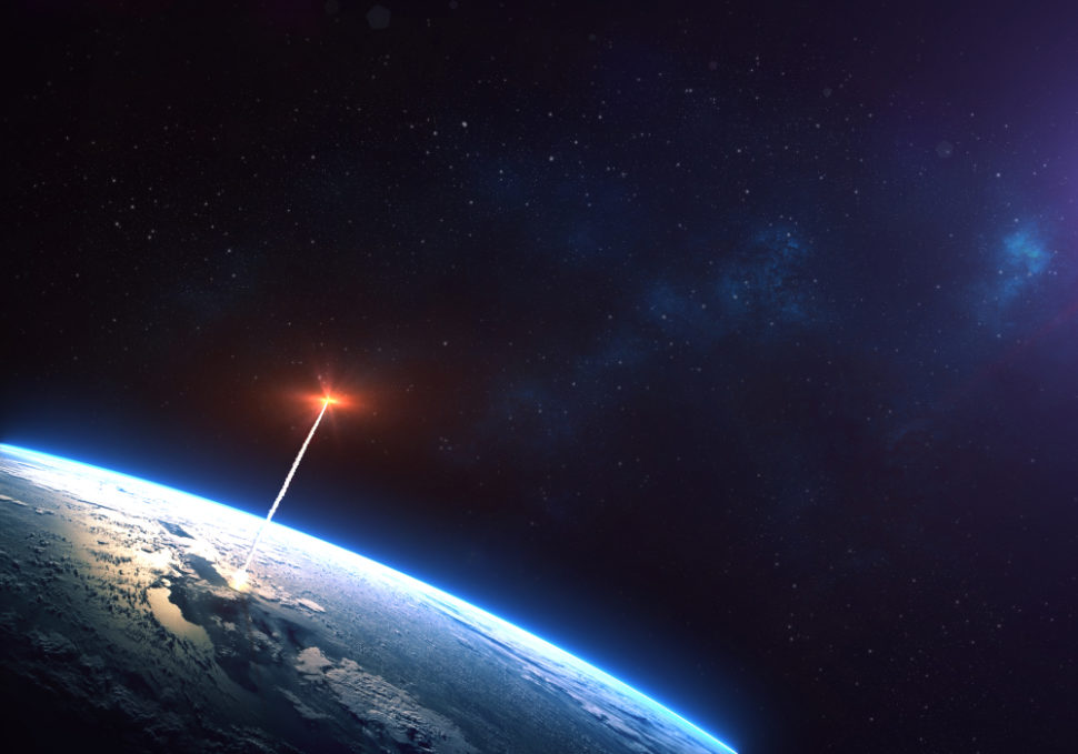 This new anti-satellite missile test could be a new chapter in the growing space arms race. ¦ Shutterstock