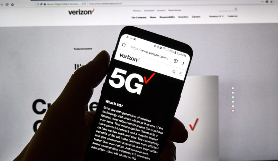 In a new push to introduce 5G to the U.S, Verizon will be launching its first 5G networks this April. ¦ Shutterstock