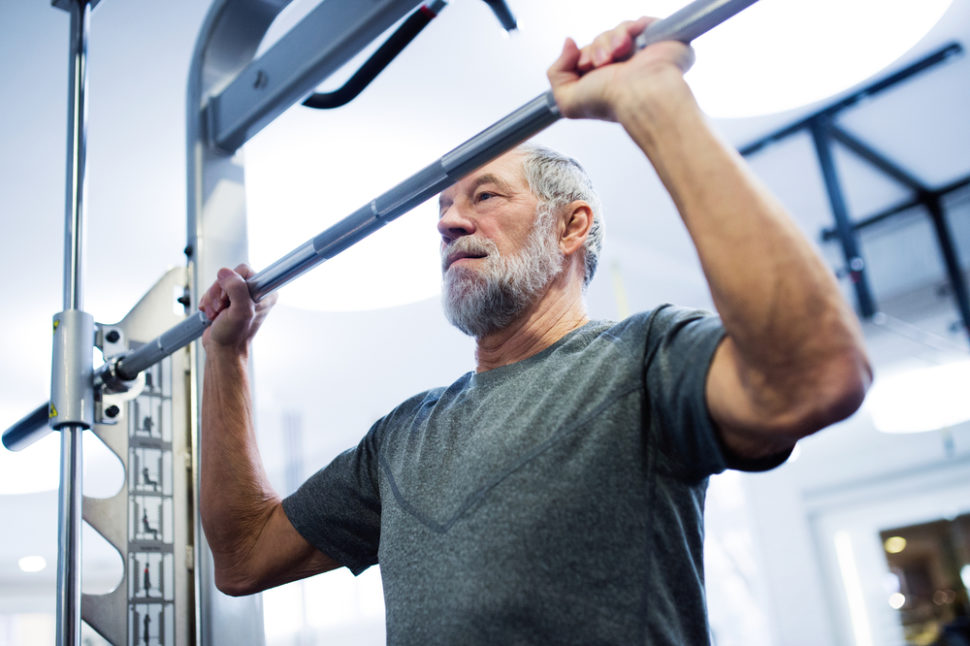 Weightlifting and improving muscle power can significantly improve your life expectancy. ¦ Halfpoint / Shutterstock.com
