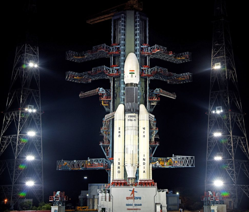 The Indian GSLV MK-III that took the Chandrayaan-2 vehicles into space | Image Credit: ISRO