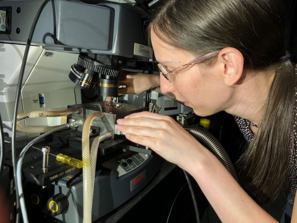 Rice University graduate student Chloe Doiron co-led a project to create a device that recycles waste heat into electricity through aligned carbon nanotube films. | Image courtesy of Rice University