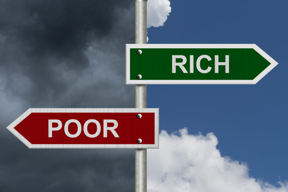 Image result for the rich vs the poor world