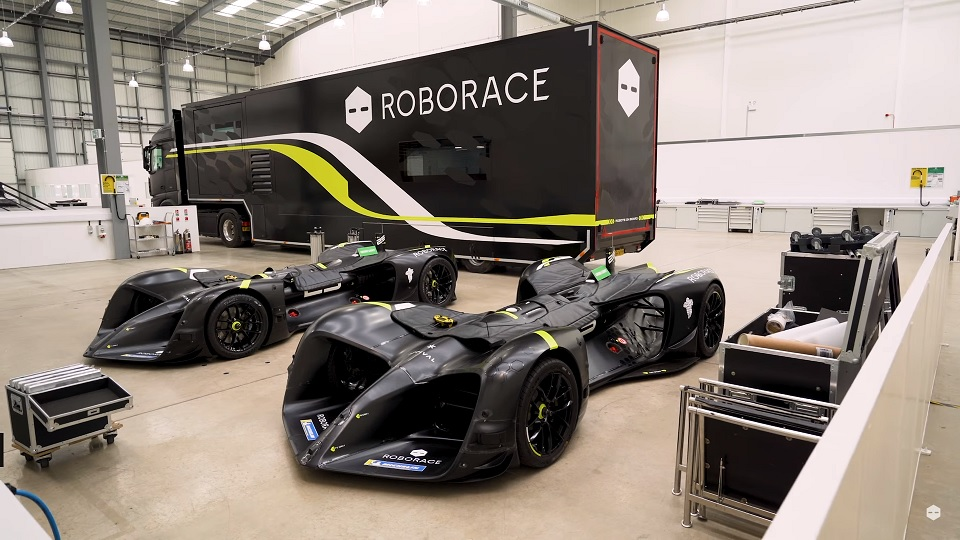 Screenshot from Roborace YouTube Channel